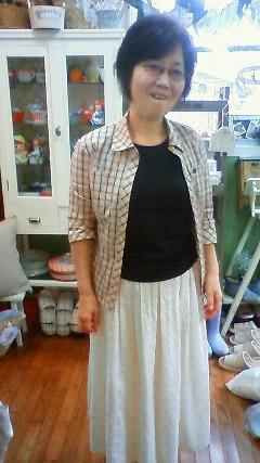 青木さんの手作りスカート