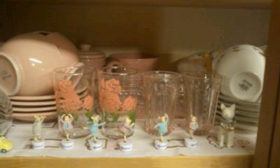 薔薇のグラス