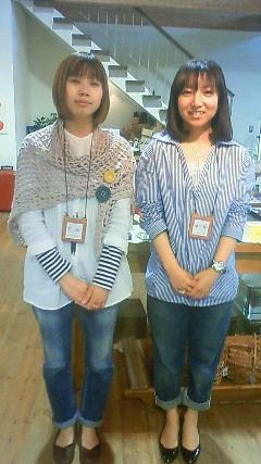 スタッフ丸山さんと、ゴマキ似の中村さん