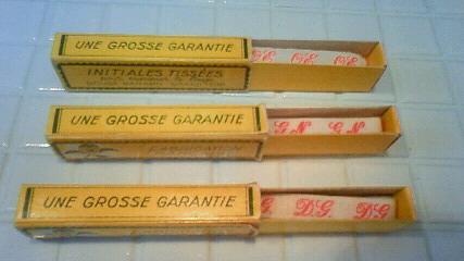 大人気のフランスアンティークモノグラムテープは残り3点!