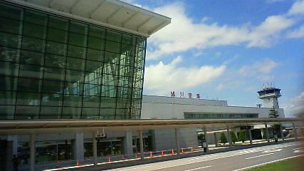 旭川空港に到着