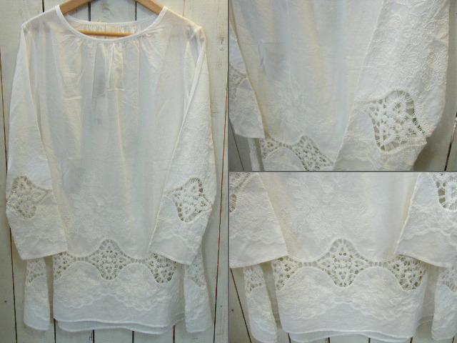 ローン刺繍ワンピース