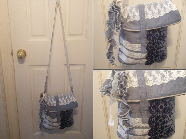 レース刺繍バッグ